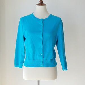 Lilly Pulitzer Blue Button Front Sweater Cardigan